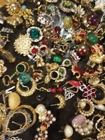 💥EARRINGS Lot only ALL GOOD Wear Resell Vintage Now 5 matched pairs~all styles