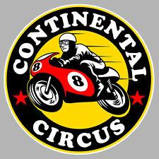 CONTINENTAL CIRCUS GP500 VINTAGE BIKER 100mm AUTOCOLLANT STICKER MOTO CA165G
