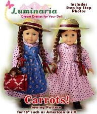 """American Girl Doll Dress Clothes Pattern 18"""" Doll Blaire Saige PDF Coat Hat"""