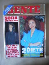 GENTE n°21 1991 Sofia Loren Sabatini Gabriella Edwige Fenech Redford  [M26-1]