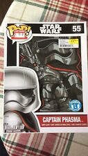 Funko POP! Limited Ed Star Wars T Shirt Captain Phasma New In Box #55 Adut large