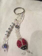 Personalized Swarovski Crystal Lady Bird Key Ring