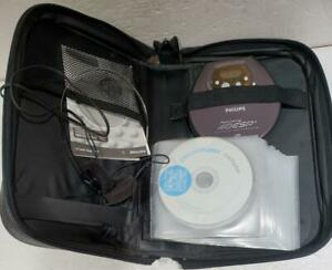 Philips Powersaving 40 ESP CD Player AZ9143/17 Headphones Case + CD's Works