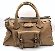CHLOE Taupe EDITH Satchel Handbag