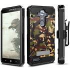 ZTE MAX XL Case, Evocel Explorer w/ Glass Screen Protector, Holster, & Kickstand