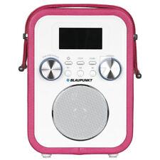 Blaupunkt Radio Rosa Weiß Bluetooth MP3 Akku Uhr Alarm Wecker USB SD AUX IN/OUT