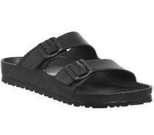 Mens Birkenstock Arizona Two Strap Sandals M Black Eva Sandals