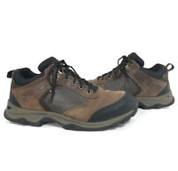 TIMBERLAND Men's Waterproof Brown / Black Leather Hiking Shoes Size 11