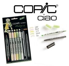 COPIC CIAO 5+1 MANGA SET 6 - GRAPHIC ART MARKERS - 5 MARKERS + 0.3 MULTILINER