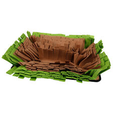 Pet Dog Snuffle Mat Training Mat Natural Foraging Skill Training Green+Brown