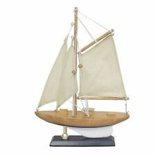 Small Sailing Yacht, America´S Cup Class, Model Boat with Fabric Sail