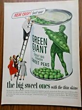 1953 Green Giant Ad Jolly Green Giant Sweet Peas