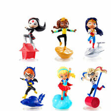 6pcs DC Comics Super Hero Girls Harley Quinn Batgirl Wonder women Action Figures