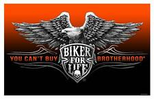 DELUXE BIKER 3 X 5 FLAG - BROTHERHOOD FOR LIFE 3 X 5 MOTORCYLE FL626 NEW eagle