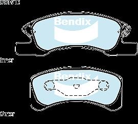 Brake Disc Pad Set  Bendix DB1912 GCT For MITSUBISHI MIRAGE LA 1.2L