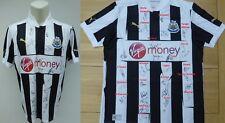 2012-13 Newcastle Utd Maglietta Firmata da 28 Inc. tiote, ameobi & cabaye (6597)