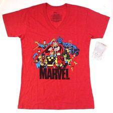 Marvel Comics Avengers Assemble Women's Ladies V-Neck T-Shirt Size Medium NWT
