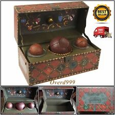 Harry Potter Quidditch Set Collectible Bludger Quaffle Snitch Truck Key Box Gift