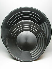 """10"""" & 14"""" 4 STAGE MARTIN PROSPECTING GOLD PANS MADE IN THE US BLACK"""