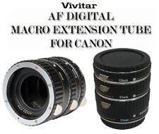 VIVITAR MACRO EXTENSION TUBE SET 13mm, 21mm & 31mm For Canon XTi XSi XS T1i T2i
