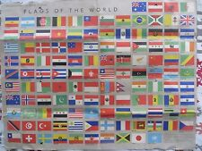 FLAGS OF THE WORLD PRINT POSTER SUPPLEMENT TO NEW TIMES IN RUSSIAN ALPHABETICAL