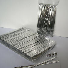 "1000pcs 4"" SILVER metallic twist ties foil twist ties for cello bags treat bags"