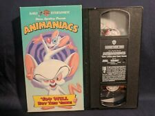 TWO VHS TAPES Animaniacs You WILL buy this video! AND Helloooo, Holidays!