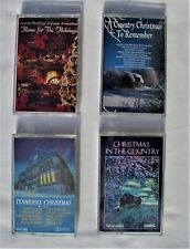 Lot 4 Cassettes Country Tennessee Christmas Music Remember Paralyzed Veterans