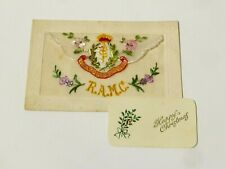 More details for ww1 ramc french embroidered silk postcard envelope happy christmas #sp19