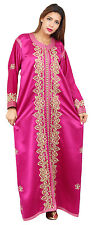 Handmade Moroccan Double Caftan Wedding Gown Kaftan Women Dress Abaya Free Belt