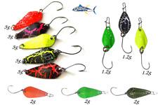 set 11 micro ondulanti spoon da pesca esca spinning trota lago trout area game