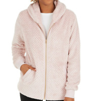 Ideology Shimmer Pink Womens Quilted Sherpa Faux Fur Fleece Jacket Size S $79