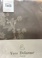 YVES DELORME FLAT IRON PIERRE SATIN DOUBLE FITTED SHEET