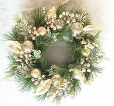 Large 61cm Champagne Christmas Wreath