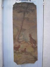 Grande peinture ancienne 165x65 Huile sur toile début 20ème Old French Painting