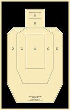 "50/' Action Pistol Targets REV RC or Orange; 12/"" x 20/"" B-24 RC Black"