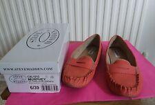 Steve Madden orange moccasins size 6