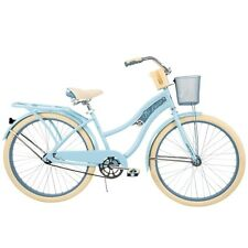 """Huffy 26"""" Nel Lusso Woman's Classic Cruiser Bike With Perfect Frame, Light Blue"""