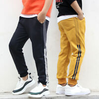 IENENS Children Boy Casual Pants Clothes Kids Boy Elastic Waist Long Trousers