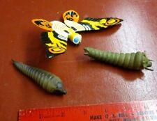 Bandai (I think) Godzilla Mothra figurine with 2 distinct Larvae