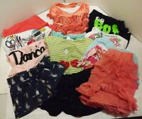 Lot of 13 Size 7 8 7-8 Girls Clothes Clothing T-Shirts Shorts Skirts Summer Fall
