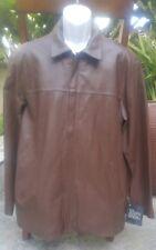 JOSEPH BARRY Men's Brown Genuine Lamb Skin Jacket Coat Lined Sz Small S Tall