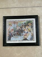 Vintage Pierre Auguste Renoir Framed Art Print Luncheon Of The Boating Party