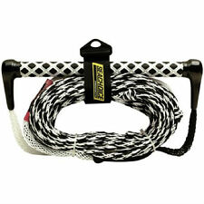 SeaChoice Water Ski Rope Handle Tow Line 75 ft 75' White / Black 2050 LBS 86821