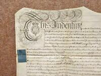 1757 Colton + Leeds Yorkshire 2 Mansions Red Hall Vellum Deed Document Indenture