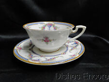"""Royal Worcester Rosemary Sky Blue, White: Cup and Saucer Set (s), 2 1/8"""", As Is"""