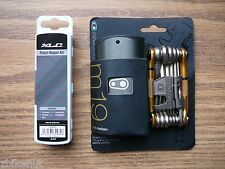 XLC Patch Kit & Crank Brothers M19 Bike Multi Tool Gold W/Case & Chain Tool NEW