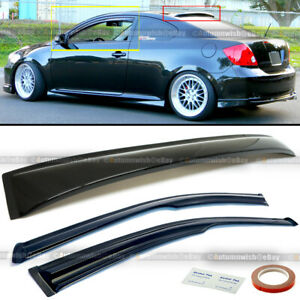 For 04 05-10 Scion tC Coupe Mugen Style 3D Wavy Window Visor + Rear Roof Visor