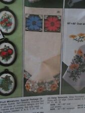 Tri-Chem Flower Lace Trim Tablecloth 66x86 Inches-To Paint #8962