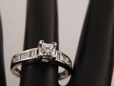 .73 tcw Designer Princess Diamond Engagement Ring F/SI1 eye clean 14k White Gold